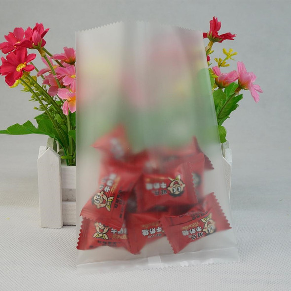 Middle Sealed Flat Matte Clear Heat Sealing Bag 50 PCS Frosted