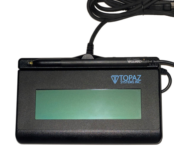 Topaz SignatureGem T-LBK462-HSB-R Signature Capture Pad USB Connection