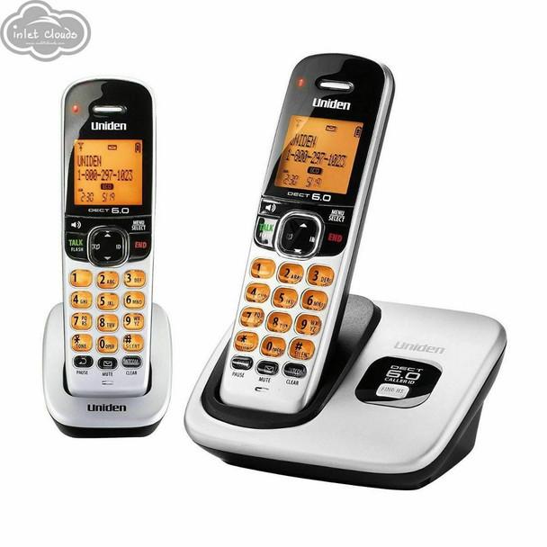 Uniden D1760-2 Expandable Cordless Phone DECT 6.0 1.9GHz,  2 Handset