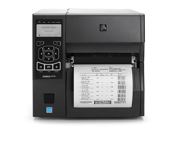 Zebra ZT420 Label Printer Bluetooth, Wifi 802.11n, USB, Ethernet, Serial Options