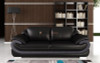 2 seater sofa chair in black and leather