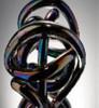 Glass Rope small - Black multi color Glass