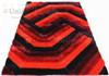 Denebola carpet in red and black