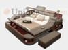 Top grain leather with safe, massage, ottoman, storage box