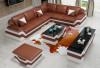 Ebikon L Shape - brown & white