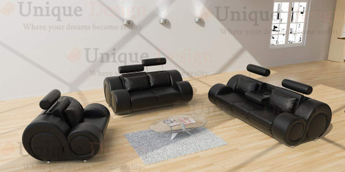Bern sofa in black as you can find it in our furniture store in Windhoek