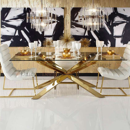 Munich Dining Table - Stainless Steel 180*90*75