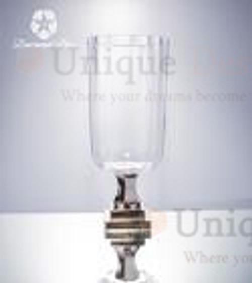 Glass Vase 19192 - Brass shiny polished wedding vase 20x42cm
