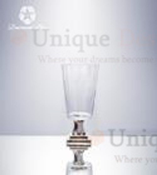 Glass Vase 19190 - Brass shiny polished wedding vase 13x27cm