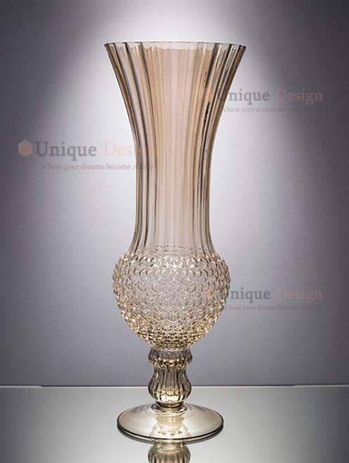 Glass Vase 46142 - Diamond star wedding decor 13x36
