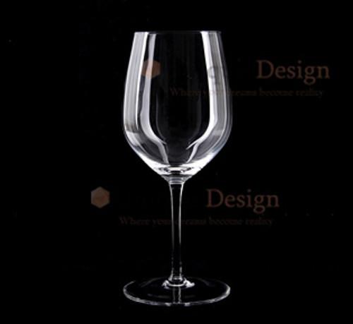 Wine Glass 075B - Saudi Handmade - Clear Glass
