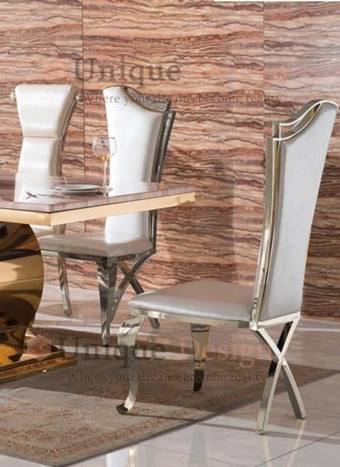 Ville chair in silver