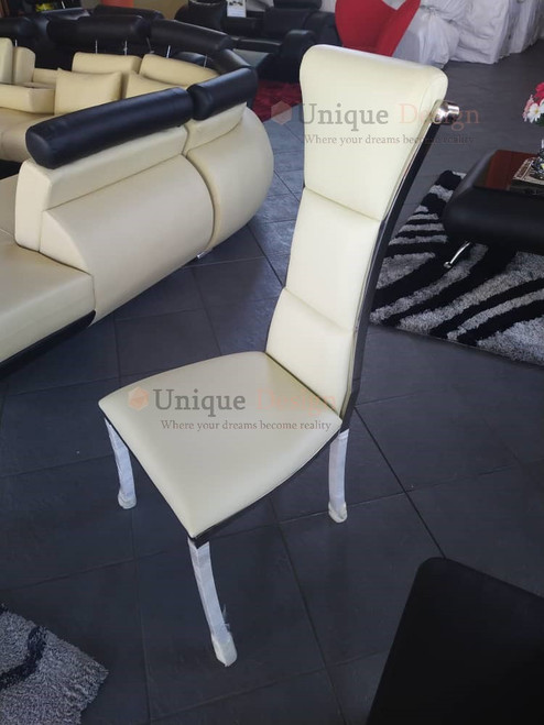 Ville Higherback Chair - Off white & Silver