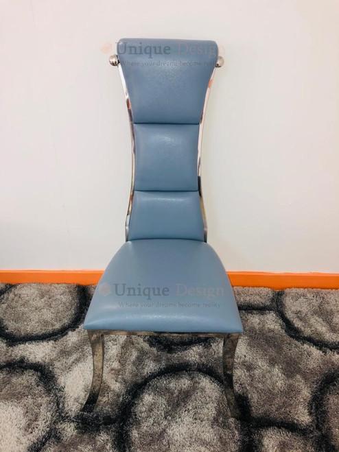 Ville Higherback Chair - Blue & Silver