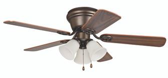 "42"" Hugger Ceiling Fan w/Blades & 3 Lights (WC42ORB5C3F)"