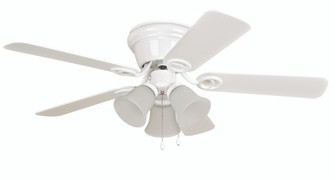"42"" Hugger Ceiling Fan w/Blades & 3 Lights (20|WC42WW5C3F)"
