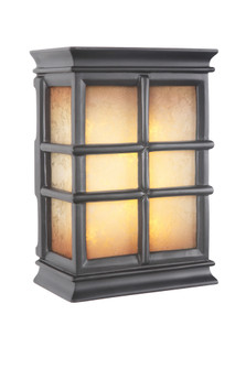 LED Hand Carved Window Pane w/Tea-Stained Glass (20|ICH1505-BK)