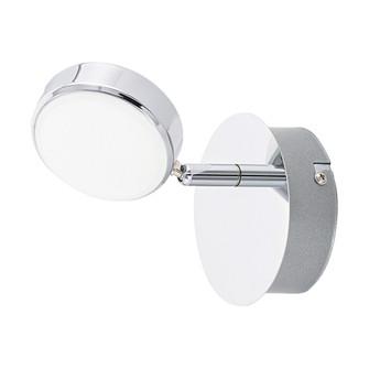 1x4.4W LED Spot track Light w/ Chrome Finish & Plastic Satin Bulb Cover (164|95628A)