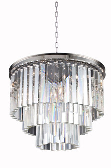 Sydney 9 light polished nickel Chandelier Clear Royal Cut Crystal (758|1201D20PN/RC)