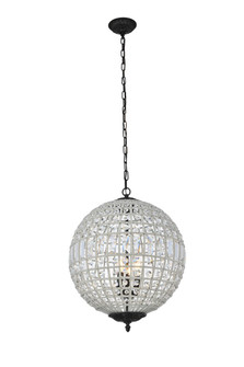 Olivia 3 light Dark Bronze Pendant Clear Royal Cut Crystal (758|1205D18DB/RC)