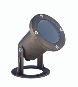 UNDERWATER LIGHT D3.875 H3.75 ANTIQUE BRASS CLEAR GLAS SMR16 HALOGEN 35W/LED GU5.3LIGHT SOURCE NOT I (758|U001)