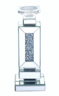13.5 inch tall Crystal CandleholderSilver Royal Cut Crystal (758|MR9203)