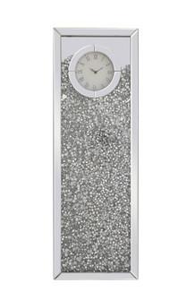 12 inch Rectangle Crystal Wall ClockSilver Royal Cut Crystal (758|MR9206)