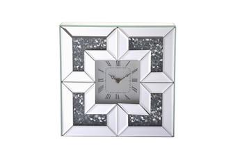 10 inch Square Crystal Wall ClockSilver Royal Cut Crystal (758|MR9207)