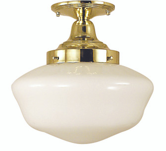 1-Light Antique Brass Taylor Flush / Semi-Flush Mount (2555 AB)