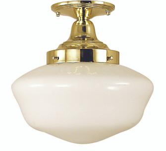 1-Light Antique Brass Taylor Flush / Semi-Flush Mount (84 2555 AB)