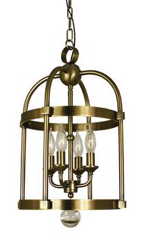 4-Light Antique Brass Compass Mini Chandelier (84|1103 AB)