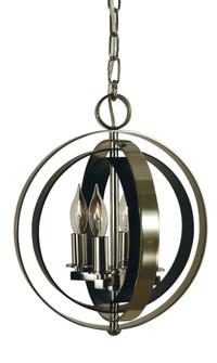 4-Lt. Mahogany Bronze/Antique Brass Constellation Pendant (84 4650 MB/AB)