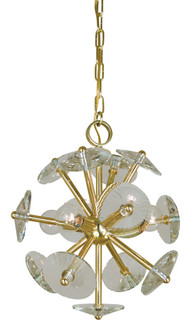 4-Light Polished Brass Apogee Mini Chandelier (4814 PB)