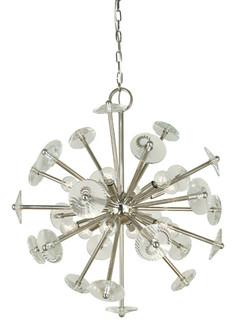 12-Light Polished Nickel Apogee Chandelier (84 4815 PN)