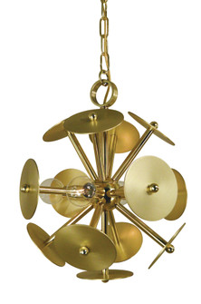 4-Light Antique Brass/Magogany Bronze Apogee Mini Chandelier (4974 AB/MB)