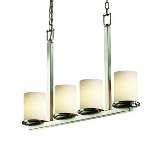 Dakota 4-Light Bar LED Chandelier (FSN-8778-10-OPAL-NCKL-LED4-2800)