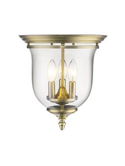 3 Light Antique Brass Ceiling Mount (108|5021-01)
