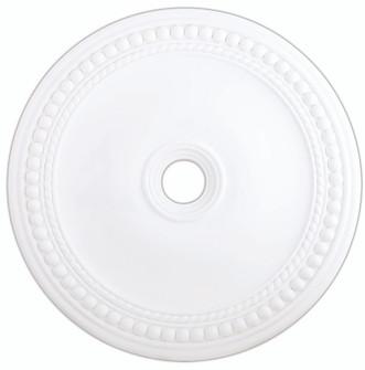 White Ceiling Medallion (108|82077-03)