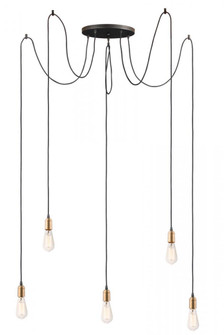 Early Electric-Multi-Light Pendant (12125BKAB)