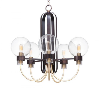 Bauhaus-Single-Tier Chandelier (30516CLBZSBR)