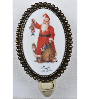 3.5 inches W Christmas Fruits of His Labor Fused Oval Night Light (107254)