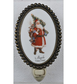 3.5''W Christmas Comin to Town Fused Oval Night Light (96|107257)