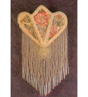 11 inches H Fabric & Fringe Floral Night Light (14360)