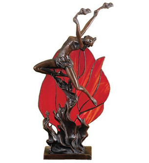 17.5 inches H Flame Dancer Accent Lamp (36167)