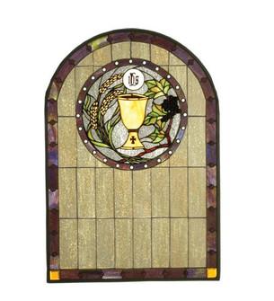 """22""""W X 32""""H Sacrament Stained Glass Window (96 51129)"""