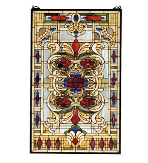 """22""""W X 35""""H Estate Floral Stained Glass Window (96 71268)"""