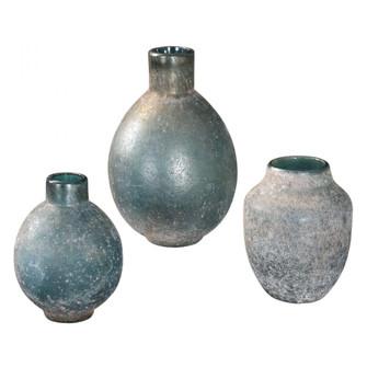 Uttermost Mercede Weathered Blue-Green Vases S/3 (85|18844)