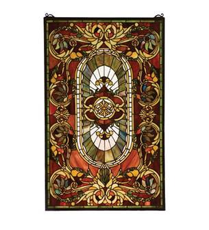 20''W X 32''H Regal Splendor Stained Glass Window (96|78103)
