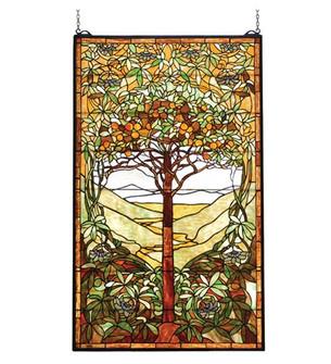 29''W X 48''H Tiffany Tree of Life Stained Glass Window (96|74065)