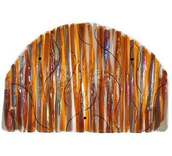 "32""W X 22""H Marina Sun Fused Glass Wall Art image"